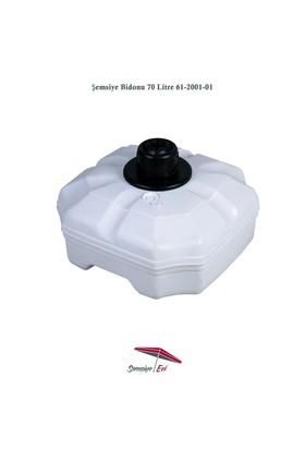 Şemsiye Evi Plastik Şemsiye Bidonu 70 Litre Su 90 Kg Kum 61-2001-01