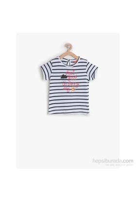 Koton Lacivert T-Shirt Kısa Kol