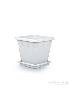 Mini Garden Villa Kare Saksı 4,6 LT Beyaz
