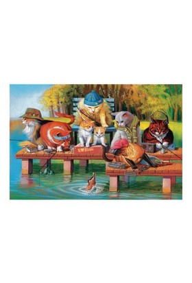 Masterpieces Puzzle Fishing On The Dock (1000 Parça)