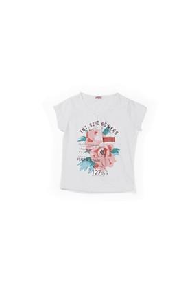 Zeyland Kız Çocuk Beyaz Çiçekli Bluz - K-61KL5251