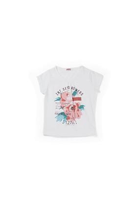 Zeyland Kız Çocuk Beyaz Çiçekli Bluz - K-61KL5254