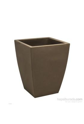 Teraplast Quadro Veneto Essentıal (Cappuccıno) 3 Plastik Saksı