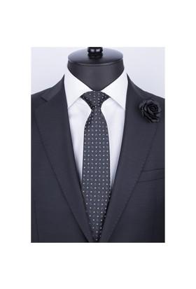 La Pescara Siyah Şal Desen Klasik Kravat Şk3007