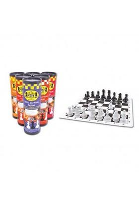 Star Oyun Satranç Dünyası Rulo Silindir Satranç Seti Küçük Boy