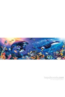 Masterpieces 1000 Parça Panoramik Puzzle Dynamic Orcas