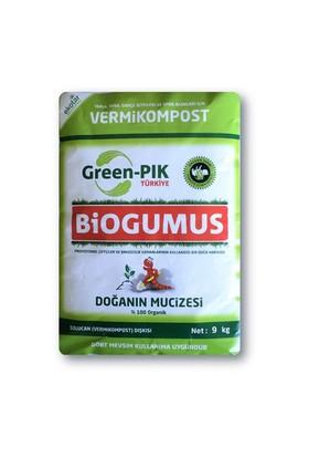 Green Pik Biogumus % 100 Organik Solucan Gübresi 9 Kg