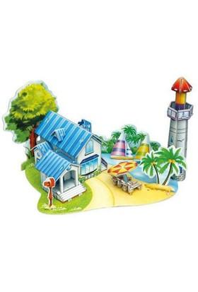 Funny 3 Boyutlu Puzzle Plaj Evi