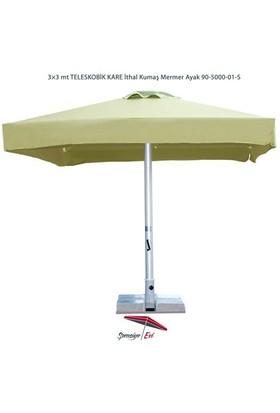 Şemsiye Evi 3X3 Mt Kare Teleskobik Bahçe Şemsiyesi İthal Kumaş 90-5000-01-S