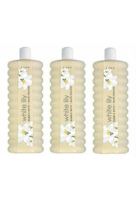 Avon Bubble Bath Beyaz Zambak Kokulu Banyo Köpüğü 1000 Ml 3 Adet