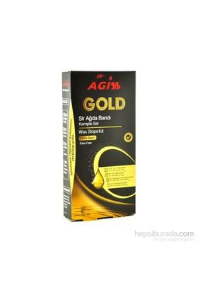 Agiss Gold Ekstra Bakım Sir Ağda Bandı Komple Set 41'Li