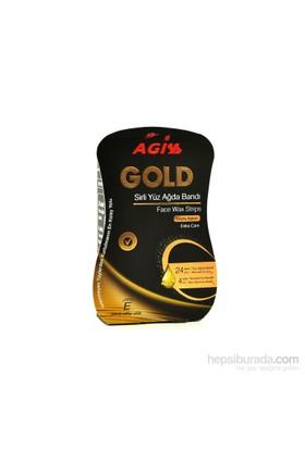 Agiss Gold Ekstra Bakım Sirli Yüz Ağda Bandı 24 + 4 Set