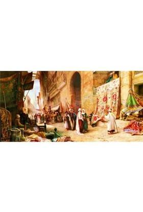 Anatolian Kahire'de Halı Pazarı