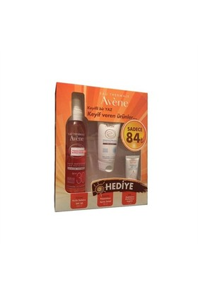 Avene Huile Solaire SPF30 200ml Kofre - After Sun 50ml ve Hydrance Optimale Light 15ml Set