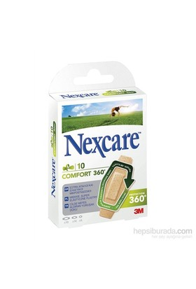Nexcare Comfort 360 10'lu Yara Bandı ( Hava alan yara bandı)