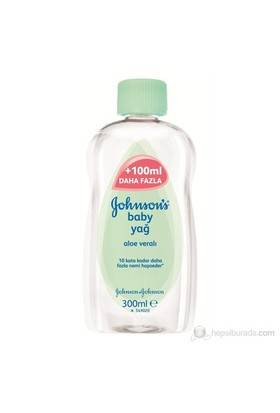 Johnsons Baby Oil/Yağ Aloe 300 Ml