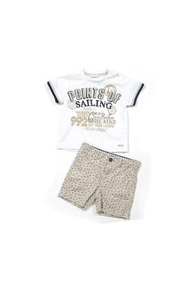 Zeyland Erkek Çocuk Beyaz T-Shirt-Şort Takım - K-61M1MCO77