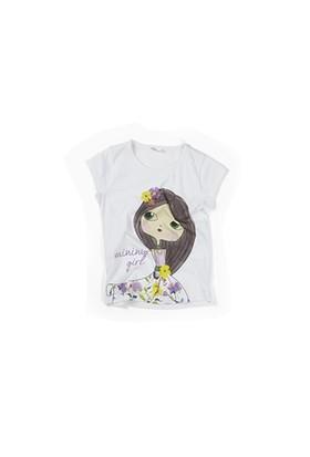 Zeyland Kız Çocuk Beyaz T-Shirt - K-61M4ELA51