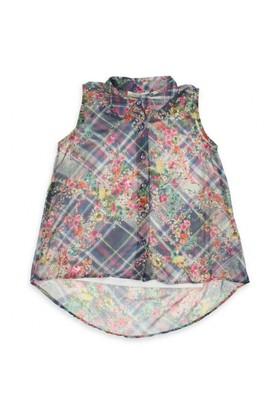 Modakids Nk Kids Kız Çocuk Ekose Çiçekli Gömlek 002-31992-012