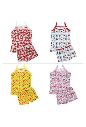 Modakids Gümüş İç Giyim Kız Çocuk İp Askılı Takım 040-4067-002