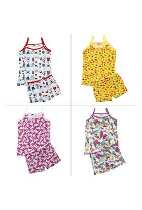 Modakids Gümüş İç Giyim Kız Çocuk İp Askılı Takım 040-4067-027