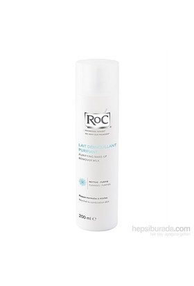 Roc Purifying Make-Up Remover Milk 200 Ml - Makyaj Temizleme Sütü