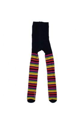 Modakids Wonder Kids Kız Çocuk Renkli Çizgili Külotlu Çorap 010-5008-022