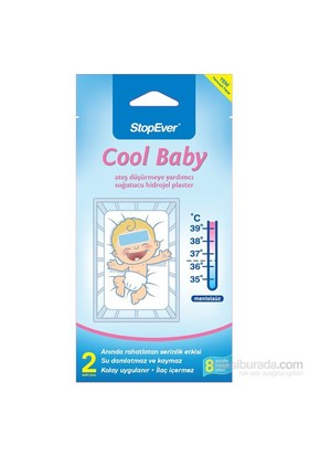 Stopever CoolBaby Ateş Düşürmeye Yardımcı Soğutucu Hidrojel Plaster