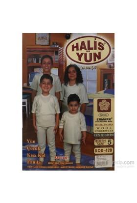 Halis Yün 8002 Çocuk Kısa Kollu Krem