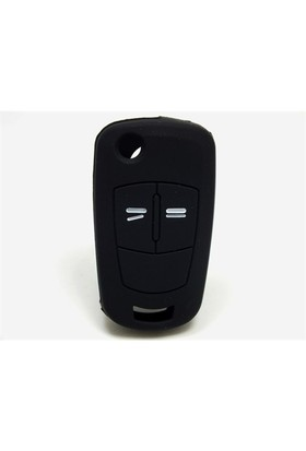 Opel Corsa Kumanda Kabı Koruyucu Silikon Kılıf 2 Tuş (Siyah)