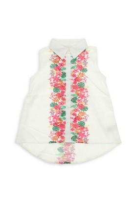 Modakids Nk Kids Kız Çocuk Ön Patı Çiçekli Gömlek 002-31764-027