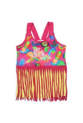 Modakids Nk Kids Kız Çocuk Moze Kalpli Saçaklı T-Shirt 002-1413-022