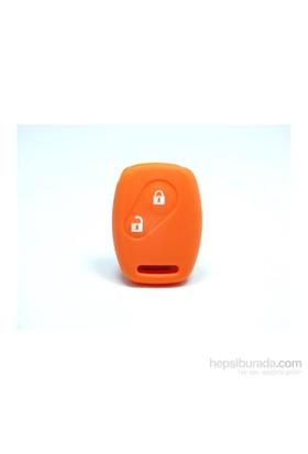 Gsk Honda Civic Anahtar Kabı Koruyucu Kılıf 2 Tuş ( Turuncu )