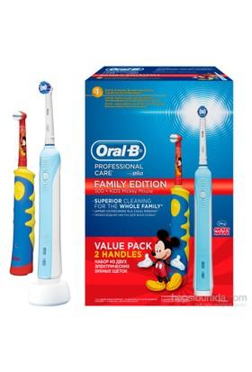Oral-B Şarj Edilebilir Diş Fırçası Professional Care Sınırlı Üretim Aile Paketi (Yetişkin + Çocuk)