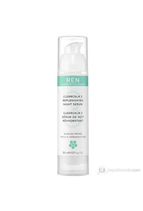 REN ClearCalm 3 Replenishing Night Serum - 50 Ml