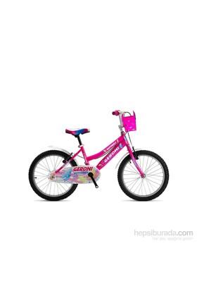 """Geroni Butterfly 20"""" Pembe Lady Kız Çocuk Bisikleti 6-9 Yaş"""