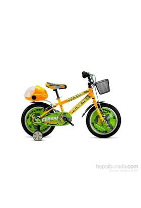 "Geroni Gator 16"" Sarı Yeşil Mtb Çocuk Bisikleti 3-6 Yaş"