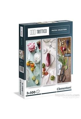 Clementoni Mediterranean Taste Puzzle - 3 X 500 Trittico Puzzle