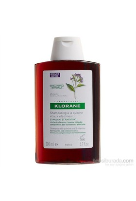 Klorane Shampooing quinine & vitamines B 200 ml - Kinin ve B Vit. içeren şampuan (saç dökülmesi)
