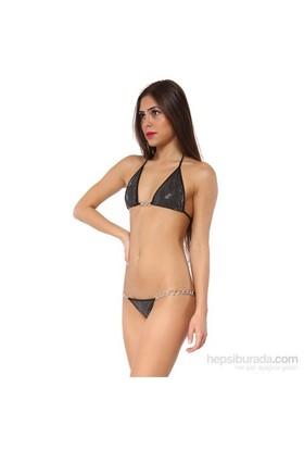 Redhotbest Yılan Derisi Baskılı Lame Gogo Bikini