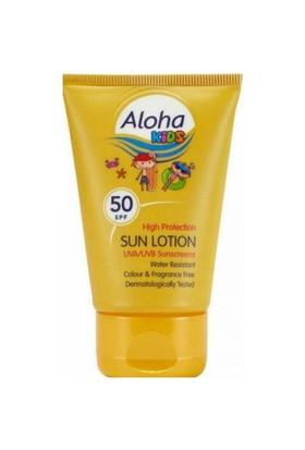 Aloha Spf50 Kids Sun Lotion 50 Ml - Çocuklar İçin Çanta Boyu Güneş Losyonu