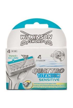 Wilkinson Quattro Titanium Sensitive 4 Lü Yedek Tıraş Bıçağı