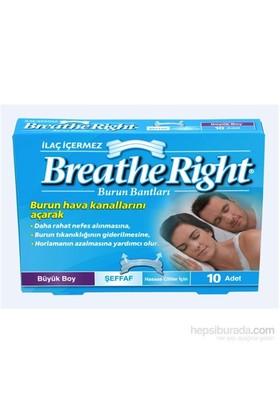 Breathe Right Burun Bandı Şeffaf Büyük Boy 10'lu