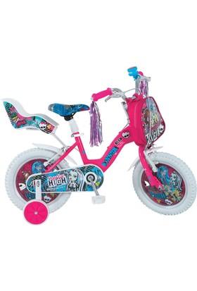 "Ümit 14"" Monster High 1449 Çelik Kadro V Fren 1 Vites Fuşya Kız Çocuk Bisikleti"