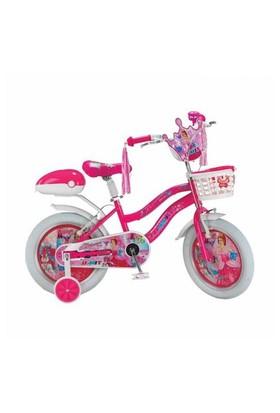 "Ümit 14"" Princess 1408 Çelik Kadro Sepetli V Fren 1 Vites Fuşya Kız Çocuk Bisikleti"