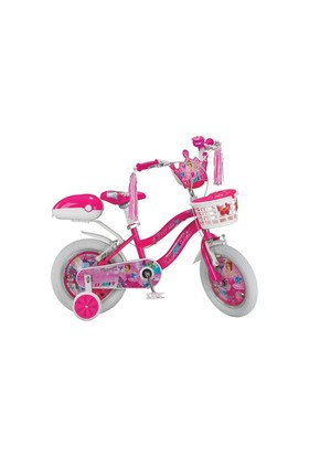 "Ümit 16"" Princess 1608 Çelik Kadro Sepetli V Fren 1 Vites Fuşya Kız Çocuk Bisikleti"