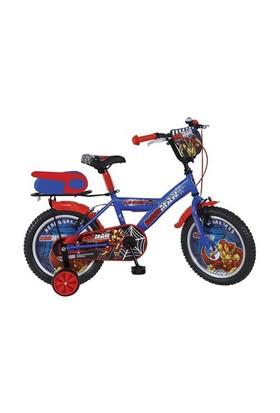 """Ümit 16"""" Redman 1606 Çelik Kadro V Fren 1 Vites Kırmızı Mavi Çocuk Bisikleti"""