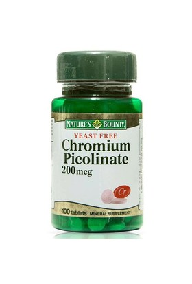 Nature's Bounty Chromium Picolinate 200 Mcg 100 Tablet