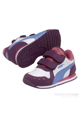Puma Cabana Racer Kids Grape Juicewhite Çocuk Spor Ayakkabı
