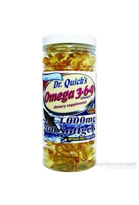 Dr.Quick's Omega 3-6-9 Yağları Mega EFA 1000 mg, 200 Yumuşak Kapsül